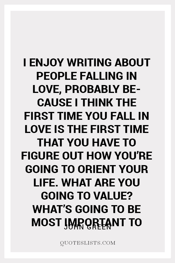 True Love Quote I Enjoy Writing About People Falling In Love